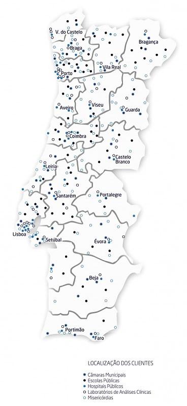 Mapa de Clientes SINASE