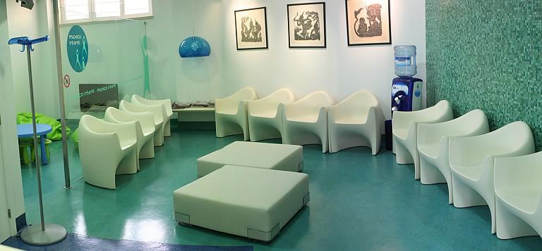 Sala de espera na clínica templimedis